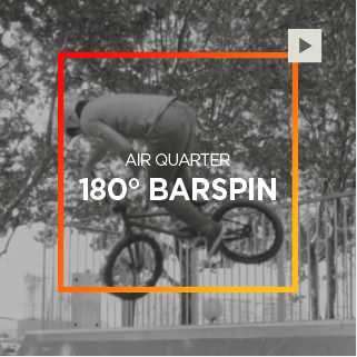 Air Quarter – 180° Barspin